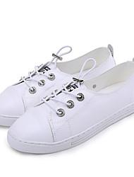 Недорогие -Жен. Обувь Искусственное волокно Осень Удобная обувь Кеды На плоской подошве Белый / Черный