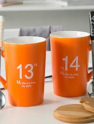 Недорогие -Drinkware Фарфор Кружка Подруга Gift Boyfriend Подарок 2pcs