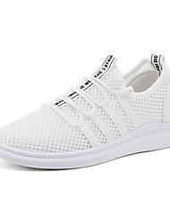 Недорогие -Муж. обувь Тюль Лето Удобная обувь Спортивная обувь Для прогулок Белый / Черный / Серый