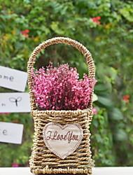 baratos -Flores artificiais 1 Ramo Rústico Flores eternas Flor de Mesa