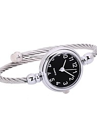 cheap -Women's Quartz Bracelet Watch Chinese Chronograph / Casual Watch Alloy Band Minimalist / Bangle Silver