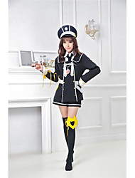 baratos -Inspirado por Touken Ranbu Fantasias Anime Fantasias de Cosplay Uniformes Escolares Moderno / Marinheiro Casaco / Camisa / Cinto Para