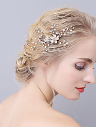 cheap -Imitation Pearl Hair Combs with Crystals / Rhinestones 1 Piece Wedding / Party / Evening Headpiece