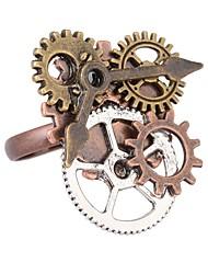 Недорогие -манжета кольцо / Регулируемое кольцо - Указатель, Шестерня Винтаж, Steampunk Регулируется Кофейный Назначение Повседневные / Свидание