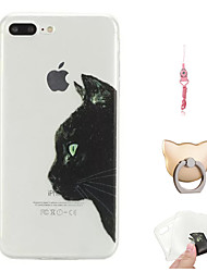 abordables -Funda Para Apple iPhone X / iPhone 8 Plus Diseños Funda Trasera Gato Suave TPU para iPhone X / iPhone 8 Plus / iPhone 8