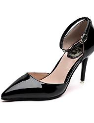 preiswerte -Damen Schuhe Kunstleder Frühling Sommer Pumps High Heels Stöckelabsatz Spitze Zehe Schwarz / Silber / Hochzeit / Party & Festivität