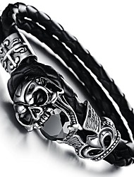 cheap -Cubic Zirconia Geometric Bangles - Skull Vintage Bracelet Black For Gift / Daily