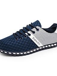 baratos -Homens Sapatos de Condução Com Transparência Primavera / Verão Conforto Tênis Botas Curtas / Ankle Estampa Colorida Cinzento Escuro / Cinzento Claro / Azul