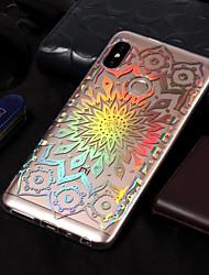 baratos -Capinha Para Xiaomi Redmi Note 5 Pro / Redmi 5A Galvanizado / Estampada Capa traseira Flor Macia TPU para Xiaomi Redmi Note 5 Pro /
