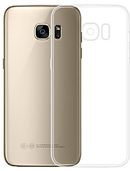 Недорогие -Кейс для Назначение SSamsung Galaxy S7 Прозрачный Кейс на заднюю панель Однотонный Мягкий ТПУ для S7