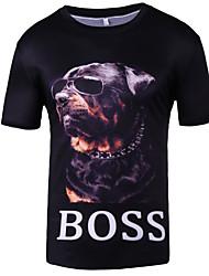 baratos -Homens Camiseta Moda de Rua Estampado, Estampa Colorida Animal