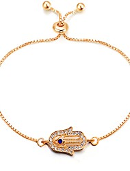 cheap -Women's Chain Bracelet - Classic, Vintage, Fashion Bracelet Gold Hamsa Hand For Daily Date