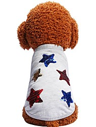 economico -Prodotti per cani Prodotti per gatti Animali domestici T-shirt Abbigliamento per cani Stelle Frasi e citazioni Geometrico Grigio Cotone /