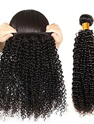 cheap -Peruvian Hair / Kinky Curly Curly Gifts / Natural Color Hair Weaves / Human Hair Extensions 3 Bundles Human Hair Weaves Soft / Best Quality / New Arrival Natural Black Human Hair Extensions Women's