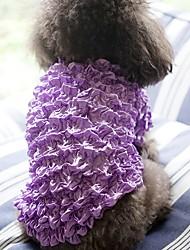 baratos -Cachorros Gatos Animais de Estimação Colete Roupas para Cães Simples Princesa Clássico Amarelo Fúcsia Azul Rosa claro Arco-Íris Terylene