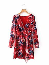 cheap -Women's Boho Chiffon Dress - Floral