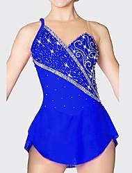 Недорогие -Платье для фигурного катания Жен. Катание на коньках Платья Тёмно-синий Одежда для фигурного катания Быстровысыхающий, Анатомический