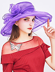 cheap -Women's Basic / Holiday Sun Hat - Solid Colored Bow