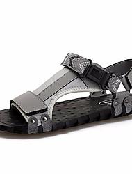 Недорогие -Муж. обувь Полиуретан Лето Удобная обувь Сандалии Черный / Серый