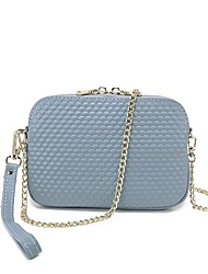 cheap -Women's Bags Genuine Leather Shoulder Bag Zipper Red / Purple / Wine
