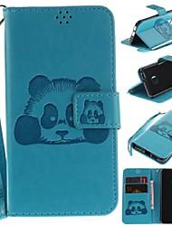 billiga -fodral Till Apple iPhone 6 / iPhone 6s Plånbok / Korthållare / Lucka Fodral Panda Hårt PU läder för iPhone 6s / iPhone 6 / iPhone SE / 5s