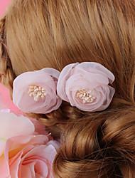 Недорогие -Шифон Аксессуары для волос с Цветы 1 шт. Свадьба / Особые случаи Заставка