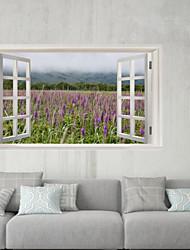 Недорогие -Декоративные наклейки на стены / Наклейки на холодильник - 3D наклейки Пейзаж / Цветочные мотивы / ботанический Ванная комната / Детская