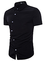 baratos -Homens Camisa Social Básico Sólido