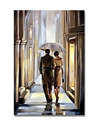 cheap -STYLEDECOR Modern Hand Painted Couples Figure on Canvas Oil Painting for Wall Art