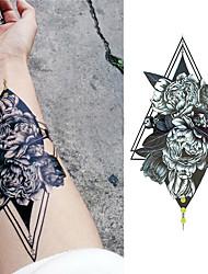Недорогие -Стикер / Стикер татуировки рука Временные татуировки 3 pcs Тату с цветами / Романтическая серия Искусство тела