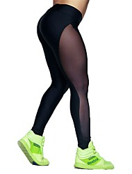abordables -Mujer Pantalones de yoga Deportes Multicolor Medias / Mallas Largas Ropa de Deporte Yoga, Secado rápido, Alta elasticidad Elástico