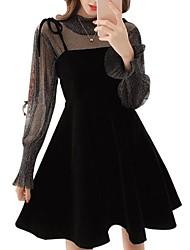 abordables -Femme Sophistiqué / Chic de Rue Manche Papillon Set - Couleur Pleine Robes