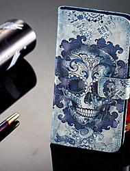 preiswerte -Hülle Für Huawei P20 lite P20 Pro Kreditkartenfächer Geldbeutel mit Halterung Flipbare Hülle Magnetisch Ganzkörper-Gehäuse Totenkopf Motiv