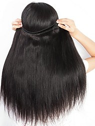 cheap -Brazilian Hair Straight One Pack Solution Human Hair Weaves Creative / Soft / Classic Natural Black Women's