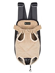 cheap -Rodents / Dogs / Cats Carrier & Travel Backpack Pet Carrier Portable / Camping & Hiking / Travel Creative / Geometric / Classic Beige /