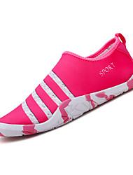baratos -Mulheres Sapatos Tecido Primavera Verão Conforto Mocassins e Slip-Ons Caminhada Sem Salto Rosa claro / Branco / Preto / Black / azul