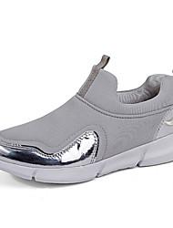 billige -Unisex Sko Net Forår Komfort Sneakers Løb Flade hæle Rund Tå Sort / Mørkeblå / Grå