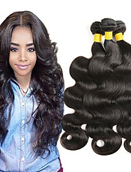 cheap -3 Bundles Malaysian Hair Straight Unprocessed Human Hair Natural Color Hair Weaves / Hair Bulk / Human Hair Lace Wig Natural Color Human Hair Weaves Best Quality / Hot Sale Human Hair Extensions
