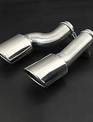 baratos -2pcs 80mm Pontas do tubo de escape Dobrado / Não dobrada Aço Inoxidável Silenciadores de Escape For Toyota Todos os Modelos 2018 / 2017 /
