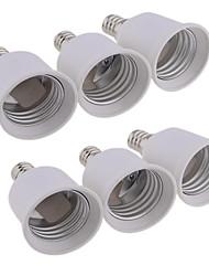 economico -6pcs E12 a E27 E26 / E27 Accessorio lampadina Presa di luce ABS + PC