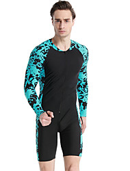 cheap -SBART Men's Rash Guard Dive Skin Suit Quick Dry, Comfortable Nylon Long Sleeve Swimwear Beach Wear Diving Suit Front Zip Diving / High Elasticity