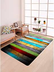 cheap -Area Rugs Traditional / Country Flannelette, Flat Shape Superior Quality Rug