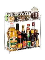 economico -Organizzazione della cucina Scaffali e porta-oggetti / Due strtati Acciaio al carbonio Contenitore 1pc