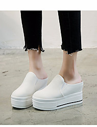 cheap -Women's Shoes Canvas Spring / Fall Comfort Loafers & Slip-Ons Creepers White / Black