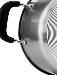 abordables -Casseroles Acier Inoxydable Rond Batteries de cuisine 1pcs