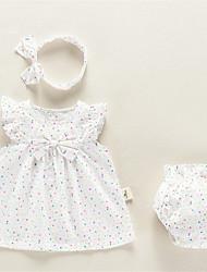 abordables -Bebé Chica A Lunares Sin Mangas Conjunto de Ropa