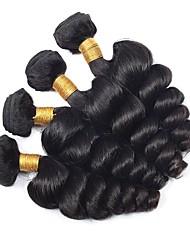 baratos -4 pacotes Cabelo Eurásio Ondulado Cabelo Humano Extensões de Cabelo Natural Côr Natural Tramas de cabelo humano extensão / Venda imperdível Extensões de cabelo humano Todos