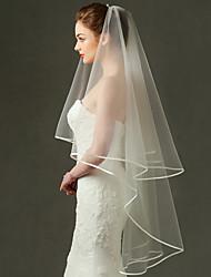 abordables -Une couche Maille / Robe Convertible / Coiffures Voiles de Mariée Voiles bout du doigt avec Frange / Fantaisie 70,87 dans (180cm) Polyester / Tulle / Ovale