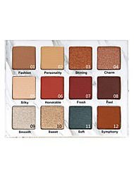 cheap -Makeup 12pcs EyeShadow Cute / Special Design / Glitter Shine Shadow Glitter / Set Colorful Party Makeup Make Up / Shimmer
