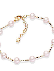 cheap -Women's Pearl / Freshwater Pearl Strand Bracelet - Pearl, Gold Plated, Freshwater Pearl Simple, Korean, Fashion Bracelet Gold For Gift / Daily